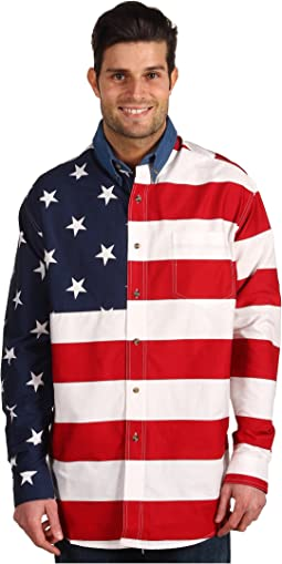 Stars & Stripes Pieced Flag Shirt L/S
