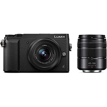 Panasonic LUMIX GX85 4K Digital Camera, 12-32mm and 45-150mm Lens Bundle, 16 Megapixel Mirrorless Camera Kit, 5 Axis In-Body Dual Image Stabilization, 3-Inch Tilt and Touch LCD, DMC-GX85WK (Black)