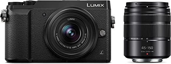 Panasonic LUMIX GX85 4K Digital Camera, 12-32mm and 45-150mm Lens Bundle, 16 Megapixel Mirrorless Camera Kit, 5 Axis In-Bo...