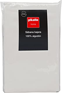 pikolin Home?-?Fitted Sheet, 100% Cotton 80 Ivory (Ecru Plain)