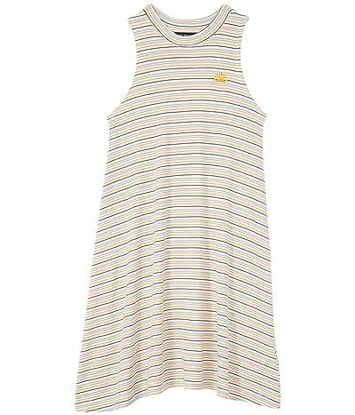 Tiny Whales Miss Sunshine Rib Mock Neck Dress (Toddler/Little Kids/Big Kids)