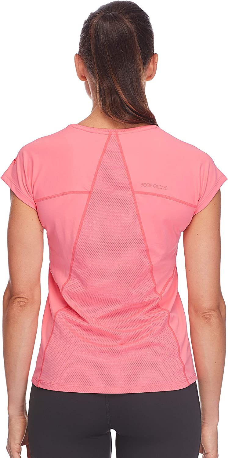 Body Glove Women's Mistral Classic T-Shirt Fit Activewear Top