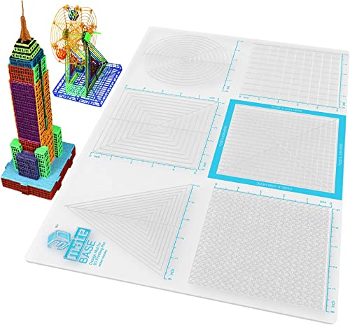 3Dmate Base - Transparent 3D Pen Mat 18 x 12 Inches with Fuse and Join Area - Flexible Two-Sided Heat-Resistant Silic...