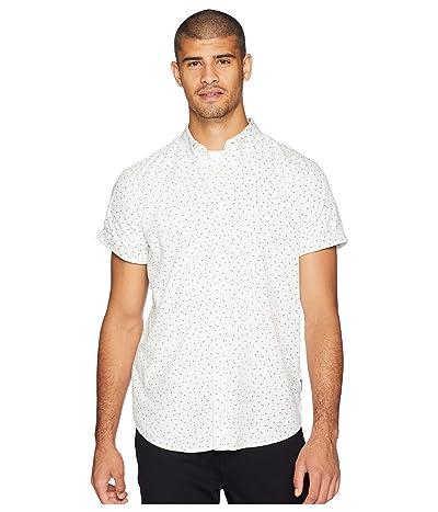 Ben Sherman Short Sleeve Shadow Spot Print Shirt (Snow White) Men