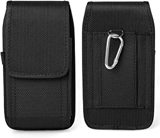 Black Jlyifan Vertical Executive Holster Belt Clip Pouch Case for Motorola Moto G4 Plus/Moto M/Moto Z Play/Z Force/Google ...