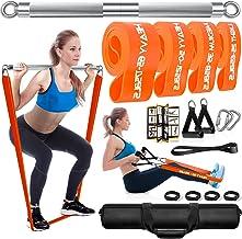 DASKING Trainingsapparaten voor thuis met 4 hoogwaardige fitnessbanden met verschillende weerstanden, 75 cm krachttraining...