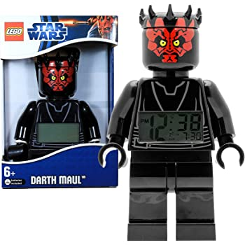 Star Wars Lego Year 2012 Movie Series 8 Inch Tall Figure Alarm Clock Set# 9005596 - Darth Maul with Moving Arms and Legs Plus Backlight Display