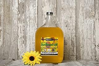 Smude Sunflower Oil 1 Gallon Glass [Cold Pressed, All Natural, NonGMO Cooking Oil]
