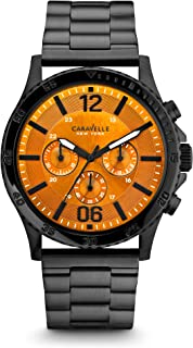 Caravelle New York Men's 45A108 Analog Display Japanese Quartz Black Watch