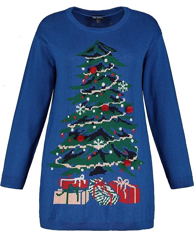 Damen Weihnachtsbaum Pullover