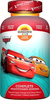Sundown Kids Disney Cars Complete Multivitamin, 180 Count