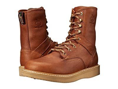 Georgia Boot Wedge 8 Lace Up (Barracuda Gold) Men