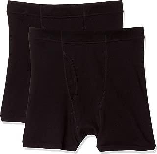 [ヘインズ] ボクサーパンツ コンフォートフィット 無地 2枚組 綿100% 柔らかい肌ざわり 心地よいフィット感 リブ素材 インゴム仕様 ボクサーブリーフ メンズ