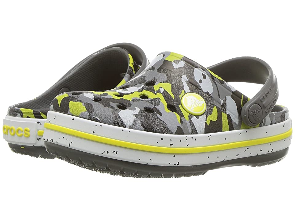 Crocs Kids Crocband Camo Speck Clog (Toddler/Little Kid) (Graphite/Camo) Kids Shoes