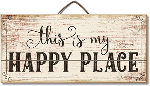 Highland Graphics Motivational Sign This Is My Happy Place Table Or Wall Decor