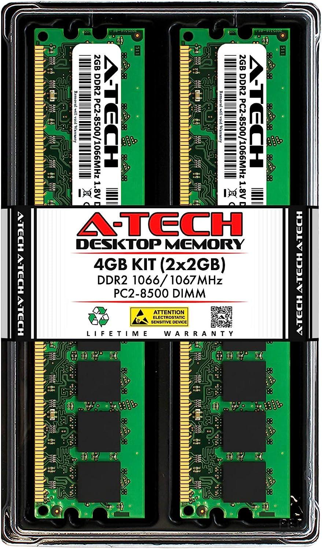 A-Tech 4GB 2x2GB DDR2 Max 60% OFF 1066MHz 1067MHz Financial sales sale PC2-8500 DIMM UDIMM No