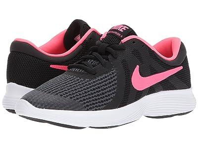 Nike Kids Revolution 4 (Big Kid) (Black/Racer Pink/White) Girls Shoes