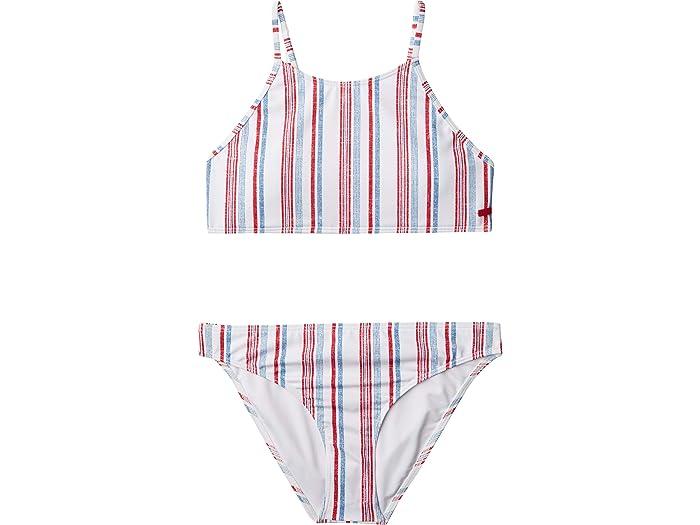 Roxy Girls Big Lake Crop Top Swimsuit Set