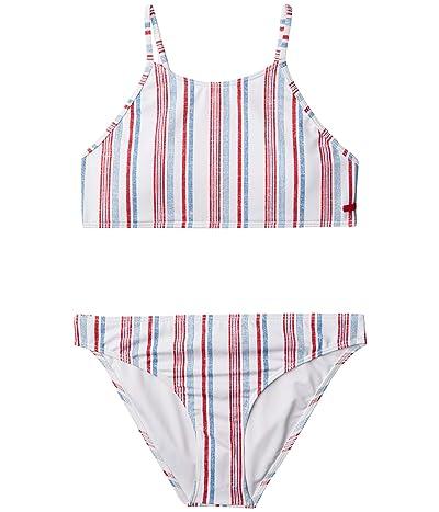 Roxy Kids Lake Of Stars Crop Top Swim Set (Big Kids) (Blue Heaven Stars Stripes) Girl