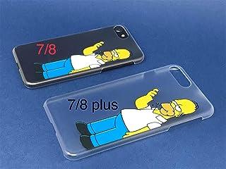 c8b00b2061f StormSell Funda Homero Simpson para Proteger tu iPhone 7 Plus 8 Plus Color  Transparente Mate rigida