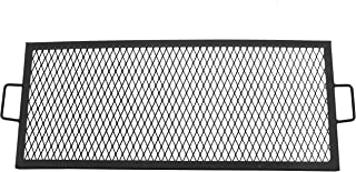 Sunnydaze X-Marks Fire Pit Cooking Grill Grate - Outdoor Rectangle Black Steel BBQ Campfire Grill with Handles - Metal Camping Cookware and Accessory - 36 Inch