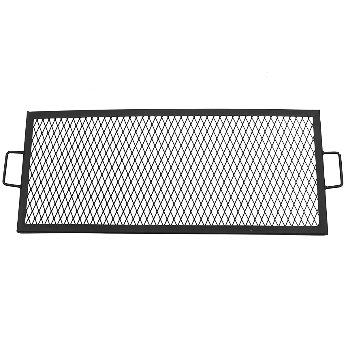 Sunnydaze X-Marks Fire Pit Cooking Grill Grate, Outdoor Rectangle BBQ Campfire Grill, Camping Cookware, 36 Inch