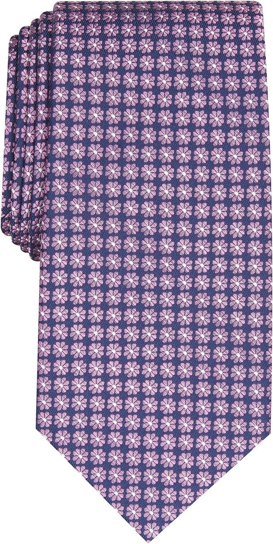CLUBROOM Mens Purple Floral Classic Neck Tie
