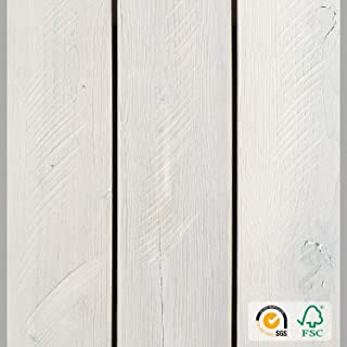 Reclaimed Peel and Stick Wood Planks for Walls, Accent Wall Panels Weathered Rustic Interior Decor (12.4 Sq Ft - 5
