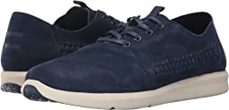 Navy Woven Suede