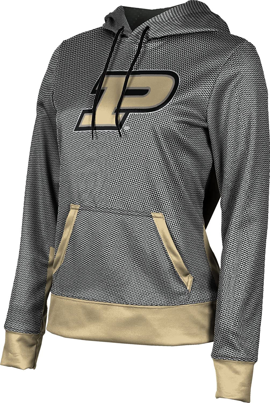 Purdue University Girls' Pullover Hoodie, School Spirit Sweatshirt (Embrace) F9B62 Black and Light Gray