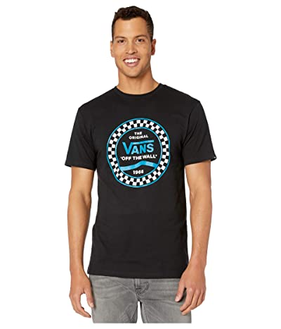 Vans Checkered Side Stripe II Short Sleeve T-Shirt (Black) Men