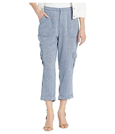 XCVI Indigo Utility Cargo Pants in Linen (White) Women