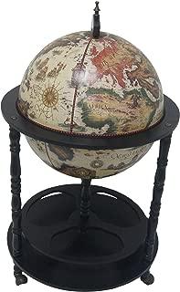 Merske Firenze Italian Style 4 Leg Floor Globe Bar, 20