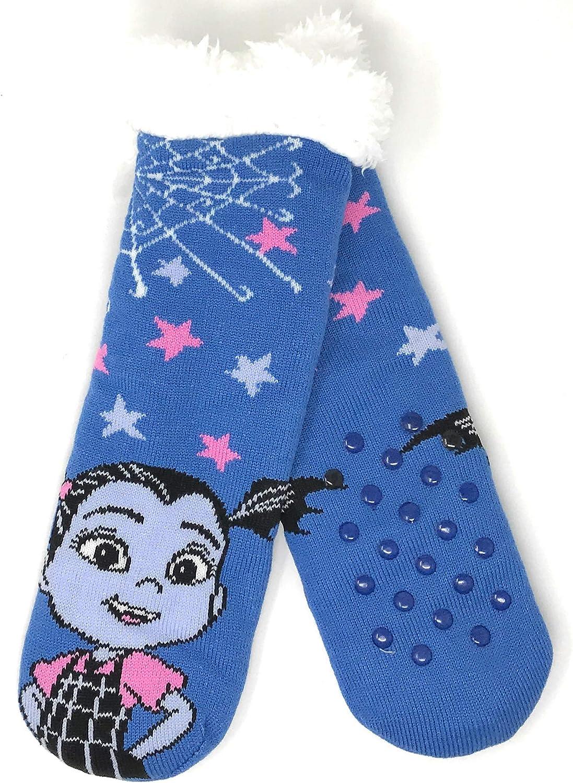 Disney 5% OFF Vampirina Slipper 55% OFF Socks Gripper Fur Faux Lined Bottoms