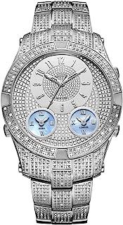 JBW Luxury Men's Jet Setter III 118 Diamonds Three Time Zone Swiss Movement Watch - J6348B
