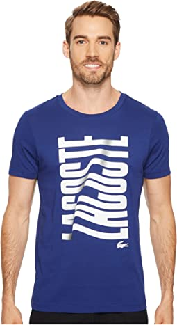 Lacoste - Short Sleeve Vertical Lacoste Graphic T-Shirt