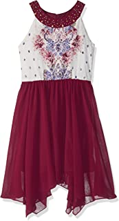 embellished neck chiffon. dress