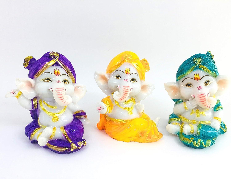 Go Product Hooked Resin Hindu's God Mini Religious Idol Free Shipping Cheap Bargain Gift Ganesha Handmade