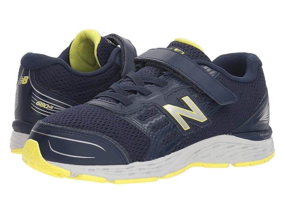 New Balance Kids KA680v5Y (Little Kid/Big Kid) (Pigment/Limeade) Boys Shoes