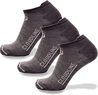 55be26c243716 CloudLine Merino Wool Light Athletic Tab Ankle Running Socks - 3 Pack - for  Men &