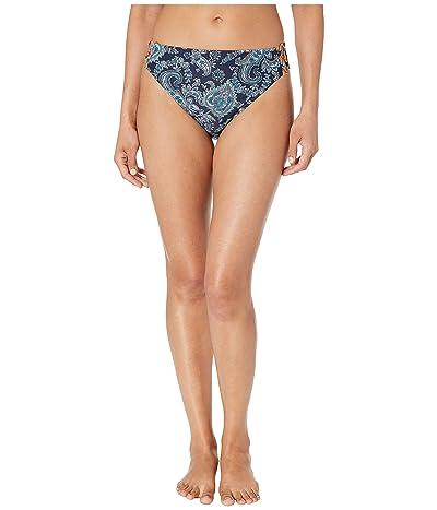 MICHAEL Michael Kors Sweetheart Paisley High-Waisted Bikini Bottoms (Aqua) Women
