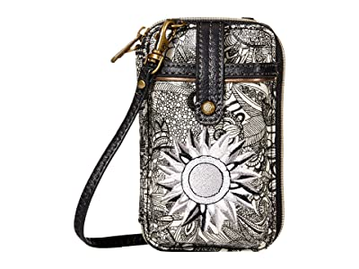 Sakroots Artist Circle Smartphone Wristlet (Black/White Spirit Desert) Wristlet Handbags