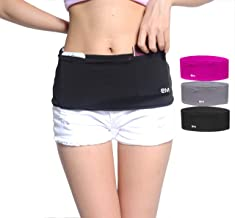 EAZYMATE Fashion Running Belt - Travel Money Belt with Zipper Pockets Fit All Smartphones and Passport