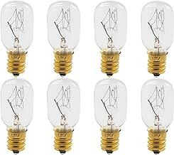 Himalayan Dimmable Salt Lamp Light Bulbs 25 Watt - Candelabra Bulb Adapter - E12 Light Bulb - 8 Pack - GoodBulb