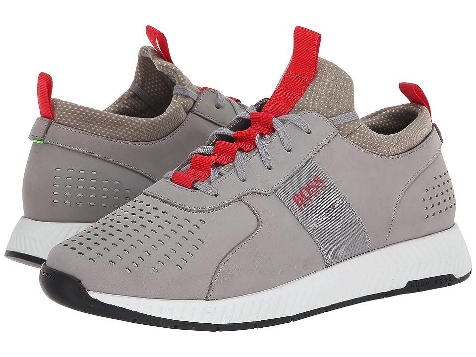 BOSS Hugo Boss Titanium Running Sneaker by BOSS Green (Medium Grey) Men