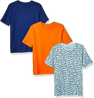 Amazon Essentials Short-Sleeve T-Shirts Niños, Pack de 3