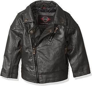 Urban Republic Baby Boys Artsy Faux Leather Azymetrical Moto Jacket