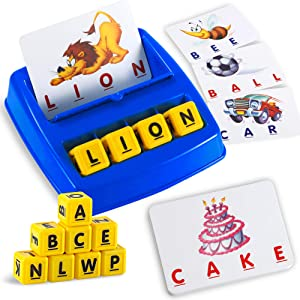 Matching Letter Game, Alphabet Spelling & Reading Words, Objects & Number & Color Recognition, Early Learning Educational Toy for Preschooler & Kindergarten Kids Over 3-8 Years Old, Best Gifts