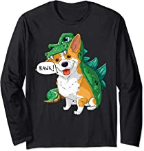 Corgi Dinosaur Dragon Costume Funny Dog Halloween Gift  Long Sleeve T-Shirt