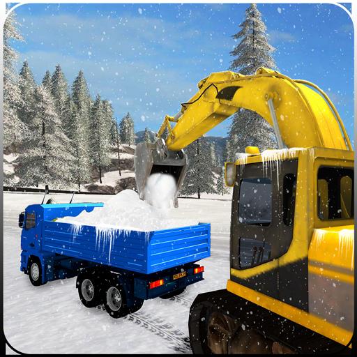 Souffleuse à neige, chauffeur de camion de grue d'excavatrice